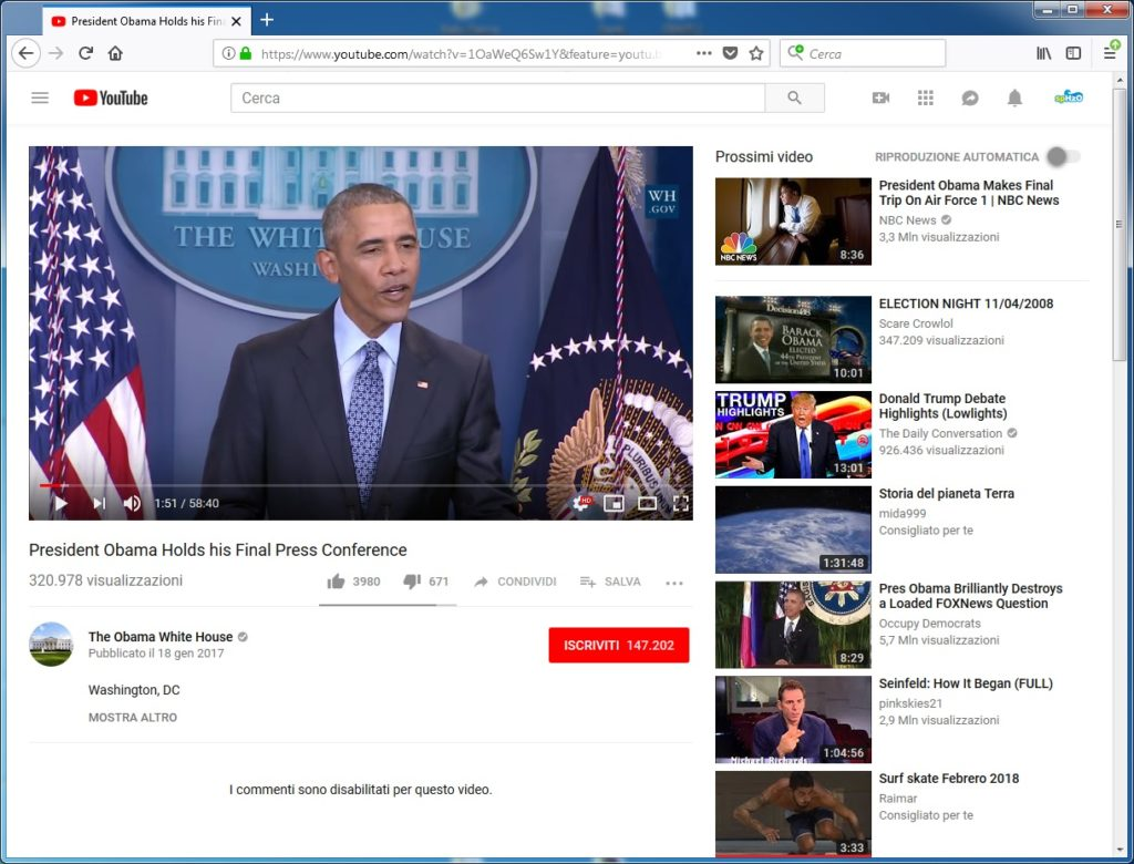 Politici su YouTube